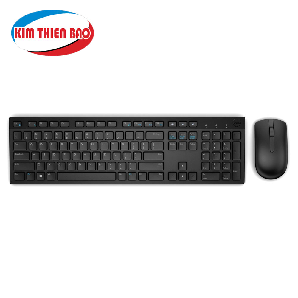 Dell Wireless Keyboard and Mouse (English) KM636 Black